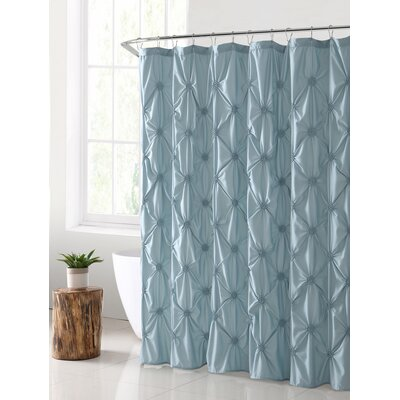 Verviers Shower Curtain Color: Aqua