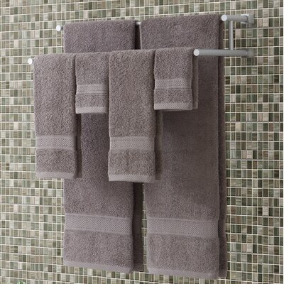 Classic Dobby 6 Piece Towel Set Color: Gray