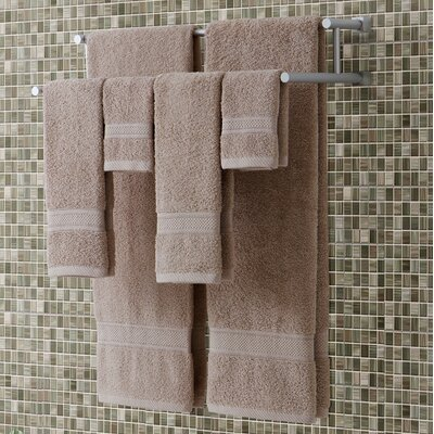 Classic Dobby 6 Piece Towel Set Color: Sand