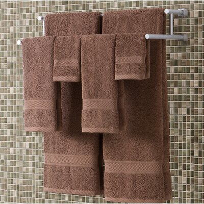 Classic Dobby 6 Piece Towel Set Color: Mocha