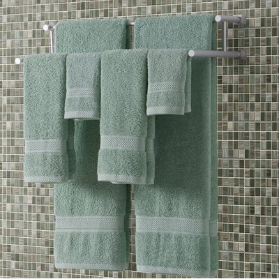 Classic Dobby 6 Piece Towel Set Color: Dusty Sage