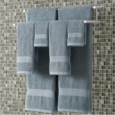Classic Dobby 6 Piece Towel Set Color: Slate Blue