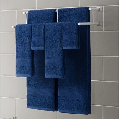 Ribbed Luxury 6 Piece Towel Set Color: Indigo Blue