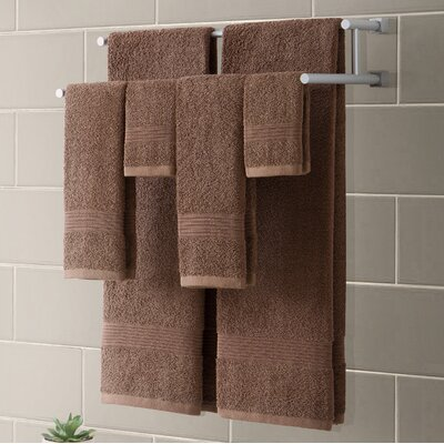 Ribbed Luxury 6 Piece Towel Set Color: Mocha