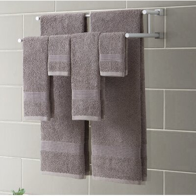Ribbed Luxury 6 Piece Towel Set Color: Gray