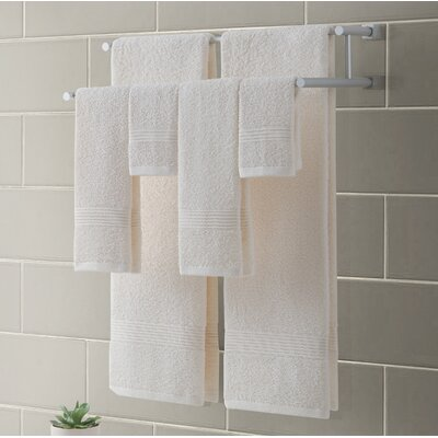 Ribbed Luxury 6 Piece Towel Set Color: Ivory