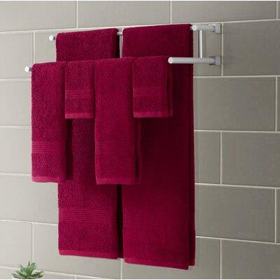 Ribbed Luxury 6 Piece Towel Set Color: Scarlet