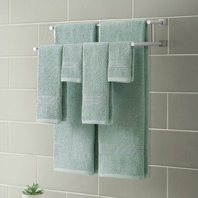 Ribbed Luxury 6 Piece Towel Set Color: Dusty Sage