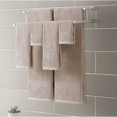 Ribbed Luxury 6 Piece Towel Set Color: Sand