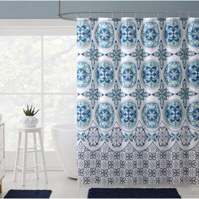 Bannock Medallion Boho Printed Shower Curtain Color: Aqua