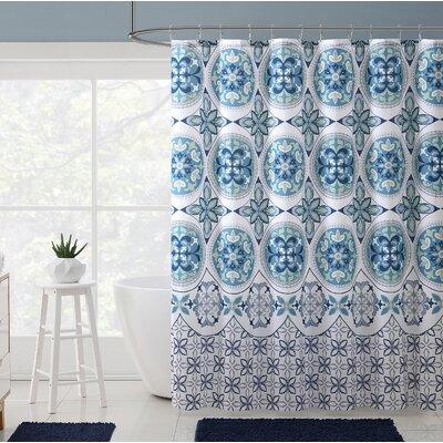 Bannock Medallion Boho Printed Shower Curtain Color: Aqua