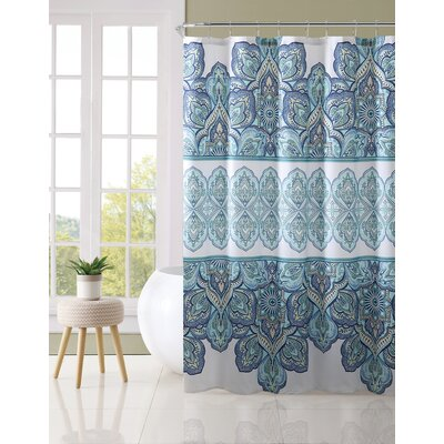 Marysville Shower Curtain Color: Aqua