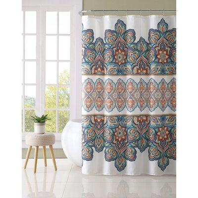 Marysville Shower Curtain Color: Orange/Blue