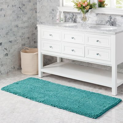 Mundt Bath Rug Color: Lagoon