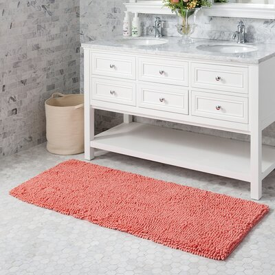 Mundt Bath Rug Color: Coral