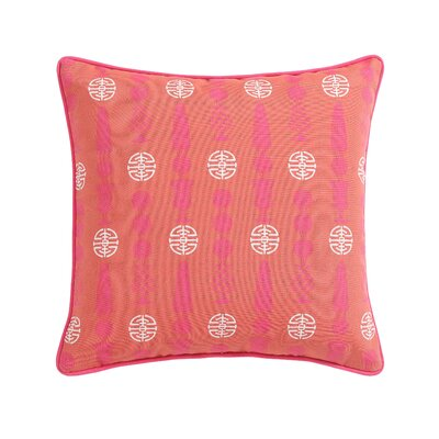Tonkawa Topiary Outdoor Throw Pillow Color: Orange