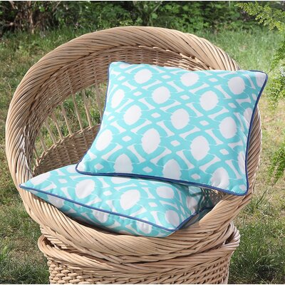 Tonkawa Outdoor Throw Pillow Color: Turquoise