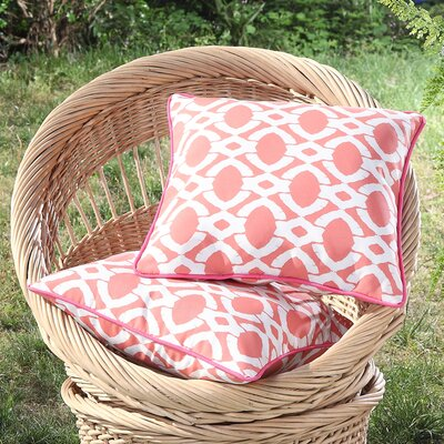 Tonkawa Outdoor Throw Pillow Color: Orange