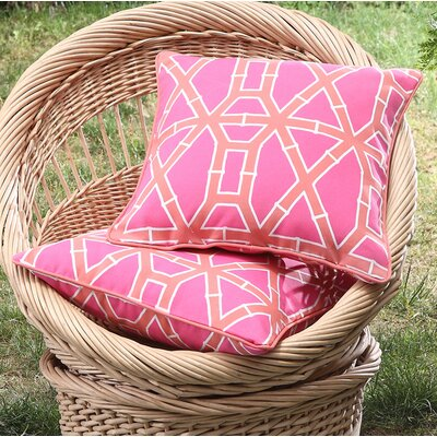 Tonkawa Bamboo Outdoor Throw Pillow Color: Pink
