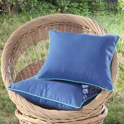 Madeleine Printed Outdoor Throw Pillow Color: Blue