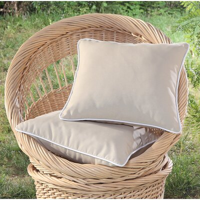 Madeleine Printed Outdoor Throw Pillow Color: Khaki