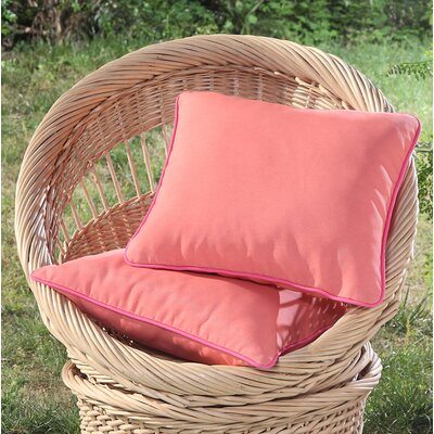 Madeleine Printed Outdoor Throw Pillow Color: Orange