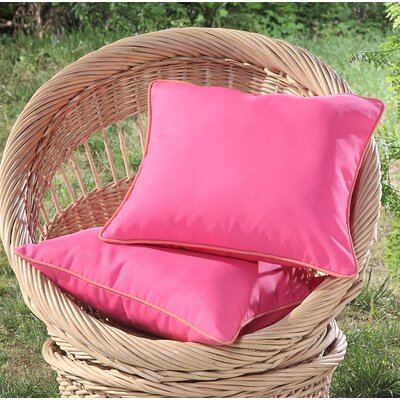 Madeleine Printed Outdoor Throw Pillow Color: Pink