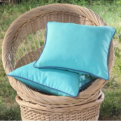 Madeleine Printed Outdoor Throw Pillow Color: Turquoise