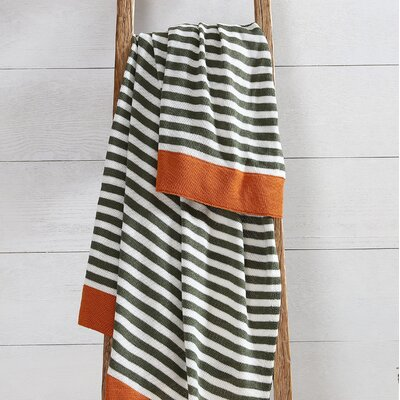 Brylee Stripe Throw Color: Orange/Green
