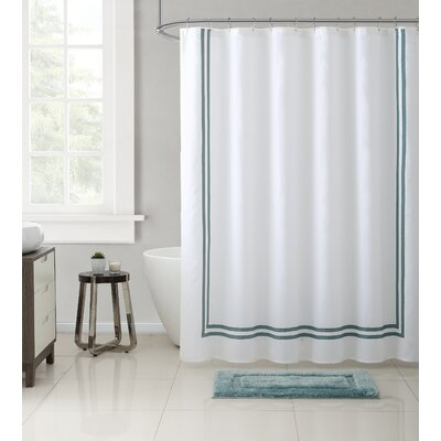 Mclarney 15 Piece Cotton Shower Curtain Set Color: Blue