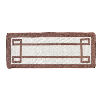 Knopf Greek Key 2 Tone Jacquard Bath Rug Color: Taupe