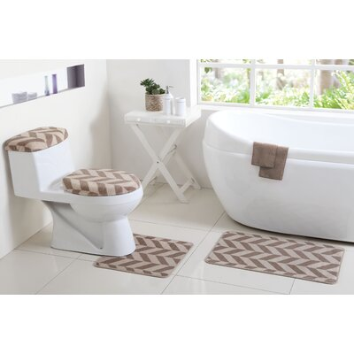Josette 6 Piece Bath Rug Set Color: Taupe