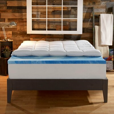 4 Memory Foam Mattress Topper Size: Queen