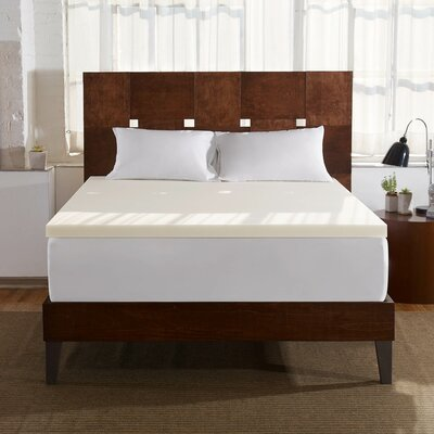 2 Memory Foam Mattress Topper Size: King