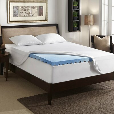 Premium 3 Gel Memory Foam Mattress Topper Size: King