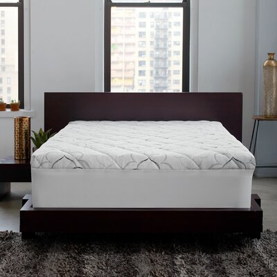 Instant Pillow Top Memory Foam and Fiber Hybrid Mattress Topper Size: King