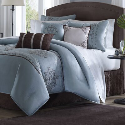 Brussel 7 Piece Comforter Set Size: Queen
