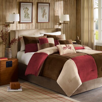 Jackson Blocks Comforter Set Color: Red, Size: King