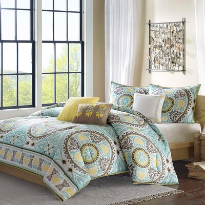 Samara 6 Piece Duvet Cover Set Size: King