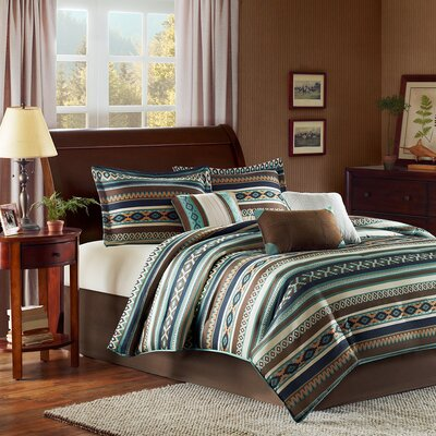 Malone 7 Piece Comforter Set Size: King