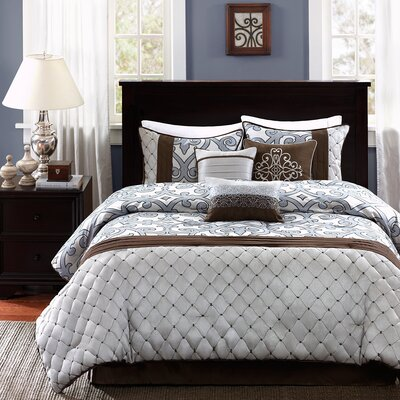Crosby 7 Piece Comforter Set Size: King