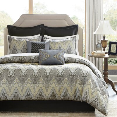 Paxton 12 Piece Comforter Set Size: California King