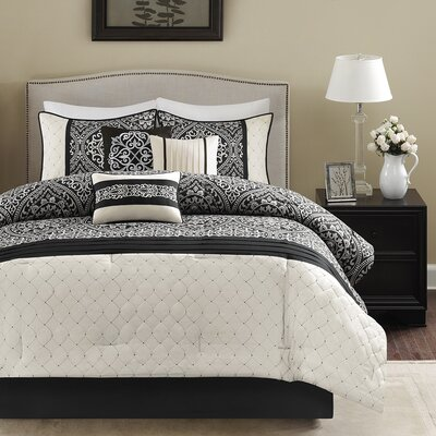 Dover 7 Piece Comforter Set Size: King