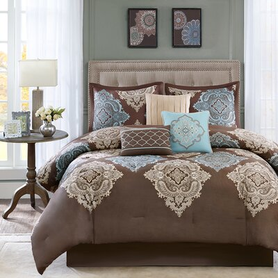 Monroe 7 Piece Comforter Set Size: King
