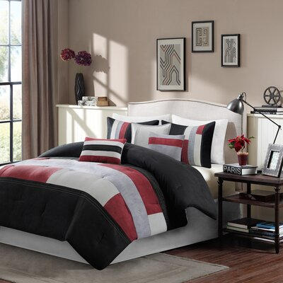 Canyon 7 Piece Reversible Comforter Set Size: King