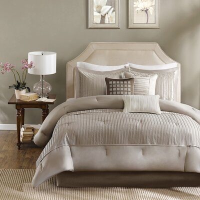 Trinity 6 Piece Reversible Duvet Cover Set Size: Full / Queen