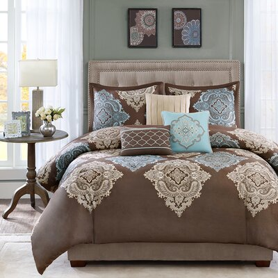 Monroe 6 Piece Duvet Cover Set Size: King / California King
