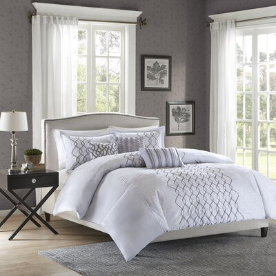 Iris 6 Piece Duvet Cover Set Size: Full / Queen
