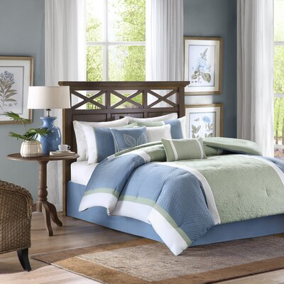 Bethany 7 Piece Comforter Set Size: King