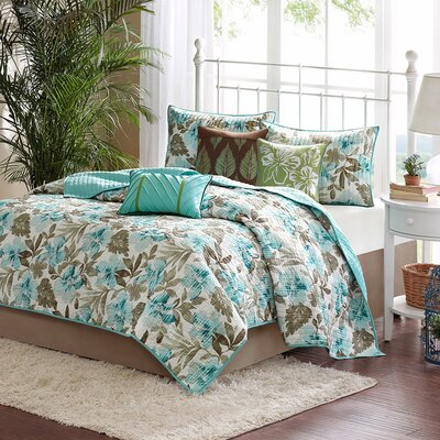 Martinique 6 Piece Coverlet Set Size: Full / Queen